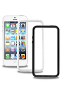 Housse pour iPhone Modelabs Pack 2 Coques Bumper iPhone 5
