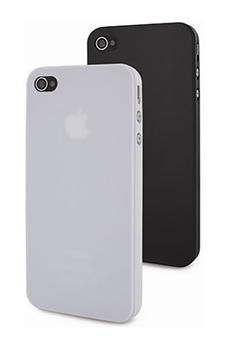 Housse pour iPhone DEUX COQUES NOIRE ET BLANCHE IPHONE 5/5S Muvit