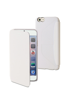 Housse pour iPhone EASY FOLIO BLANC POUR IPHONE 6/6S Muvit