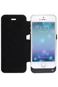 Neoxeo Etui à rabat noir avec batterie pour iPhone 5/5s