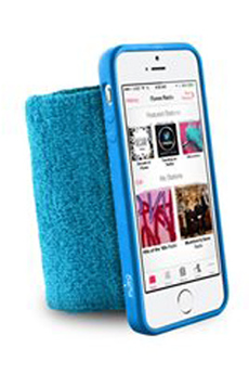 Housse pour iPhone BRASSARD BLEU POUR IPHONE 5/5S Puro