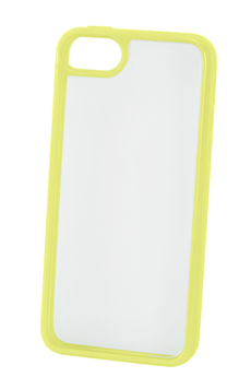 Housse pour iPhone COQUE CLEAR IPHONE 5C JAUNE Puro