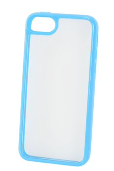 Housse pour iPhone COQUE CLEAR IPHONE 5C BLEU Puro