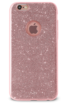 Housse pour iPhone COQUE BRILLANTE ROSE OR POUR IPHONE 6/6S Puro