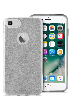 Housse pour iPhone COQUE BRILLANTE ARGENT POUR IPHONE 7 Puro