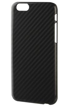 Housse pour iPhone COQUE IPLATE CARBON NOIR POUR IPHONE 6/6S Xqisit