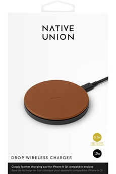 Chargeur pour iPhone Native Union PAD Induction Cuir