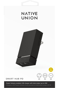 Chargeur pour iPhone Native Union Chargeur secteur smart 45W