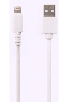 Chargeur pour iPhone CABLE LIGHTNING 2M BLANC Temium