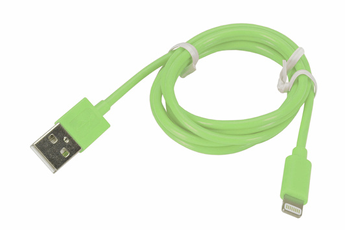 Chargeur pour iPhone CABLE LIGHTNING 1M VERT Temium