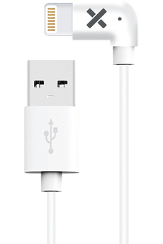 Chargeur pour iPhone Wefix Cable lightning coudé blanc 1,2...