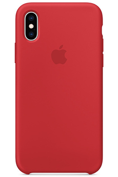 52605e459e897 Coque iPhone CQ IPHXS SILICONE (PRODUCT)RED Apple