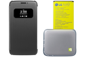 Accessoires téléphone PACK ACCESSOIRES CAM PLUS + ETUI QUICK COVER POUR LG G5 Lg