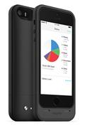 Coque batterie Mophie Space Pack 32 Go noir pour iPhone 5/5S