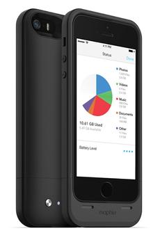 Coque batterie Space Pack 32 Go noir pour iPhone 5/5S Mophie