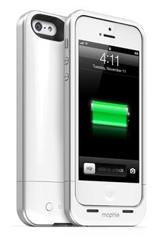 Coque batterie Juice Pack Air 1700mAh blanc pour iPhone 5/5S Mophie