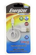 "Energizer Câble micro-USB blanc ultra-plat ""Hightech"""