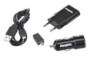 Chargeur pour téléphone mobile Energizer Chargeur 3 en 1 micro USB