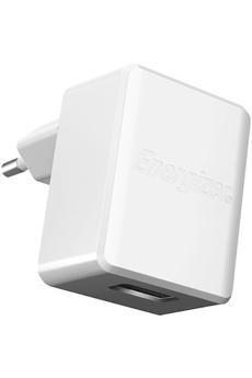 Chargeur pour téléphone mobile CHARGEUR SECTEUR USB BLANC 2.4A Energizer