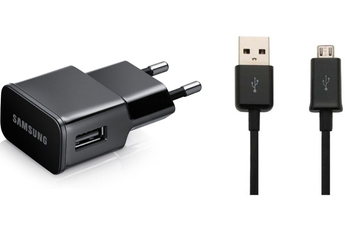 Chargeur portable CHARGEUR SECTEUR USB 2A NOIR AVEC CABLE MICROUSB VERS USB NOIR Samsung