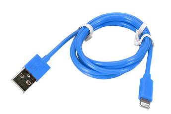 Chargeur pour téléphone mobile CABLE LIGHTNING 1M BLEU Temium