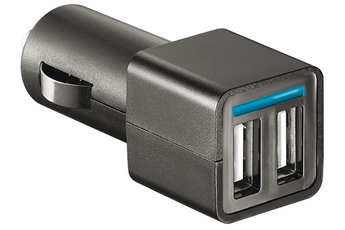 Chargeur portable CHARGEUR ALLUME CIGARE 2 USB 2.1A Temium