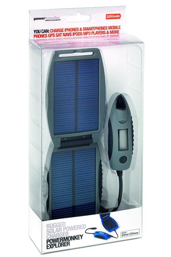 batterie de secours powertraveller batterie de secours avec panneau solaire 2200 mah 4252152. Black Bedroom Furniture Sets. Home Design Ideas