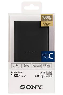 Batterie de secours - Câble USB Type C fourni Charge tous les smartphones Capacité de 10000 mAh - Fast Charge 1 port USB et 1 port USB type C