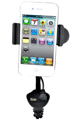 Support pour téléphone mobile Muvit Support universel pour voiture avec bras flexible MUCHL0033