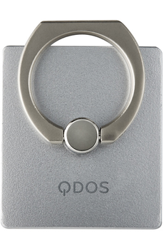 Support pour téléphone mobile RING ARGENT 2 en 1 Anneau de prise en main - Stand Qdos