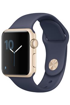 Apple watch WATCH SERIE 1 38MM CADRAN ALUMINIUM COULEUR OR BRACELET SPORT BLEU NUIT Apple