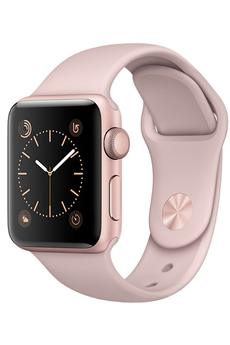 Apple watch WATCH SERIE 1 38MM CADRAN ALUMINIUM COULEUR OR-ROSE BRACELET SPORT ROSE Apple