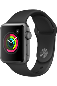 Apple watch WATCH SERIE 2 38MM ALUMINIUM COULEUR GRIS SIDERAL BRACELET SPORT NOIR Apple