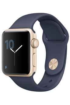 Apple watch WATCH SERIE 2 38MM ALUMINIUM COULEUR OR BRACELET SPORT BLEU NUIT Apple