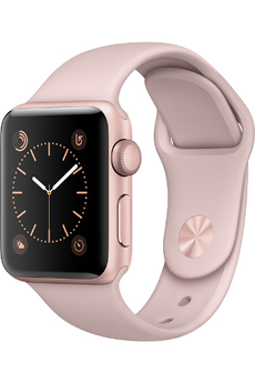 Apple watch WATCH SERIE 2 38MM ALUMINIUM COULEUR OR ROSE BRACELET SPORT ROSE DES SABLES Apple