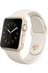 Apple watch WATCH 38MM CADRAN EN ALUMINIUM COULEUR OR BRACELET SPORT BLANC Apple