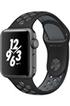 Apple watch WATCH NIKE+ 38MM ALUMINIUM GRIS SIDERAL BRACELET SPORT NIKE NOIR/GRIS FROID Apple