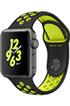 Apple watch WATCH NIKE+ 38MM ALUMINIUM COULEUR GRIS SIDERAL BRACELET SPORT NIKE NOIR/VOLT Apple