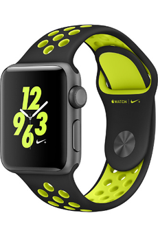Apple watch WATCH NIKE+ 38MM ALUMINIUM COULEUR GRIS SIDERAL BRACELET SPORT NIKE NOIR/VOLT Apple