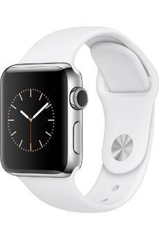 Apple watch WATCH SERIE 2 42MM ALUMINIUM COULEUR ARGENT BRACELET SPORT BLANC Apple