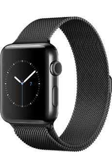 Apple watch WATCH SERIE 2 42MM ACIER COULEUR GRIS SIDERAL BRACELET MILANAIS GRIS SIDERAL Apple