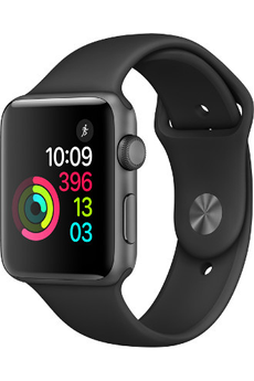 Apple watch WATCH SERIE 2 42MM ALUMINIUM COULEUR GRIS SIDERAL BRACELET SPORT NOIR Apple