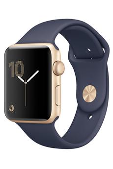 Apple watch WATCH SERIE 2 42MM ALUMINIUM COULEUR OR BRACELET SPORT BLEU NUIT Apple