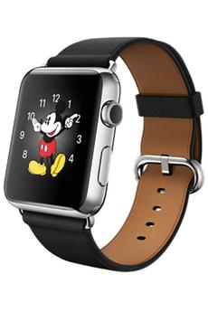 Apple watch WATCH 42MM CADRAN ACIER BRACELET CLASSIQUE NOIR Apple