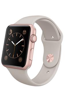 Apple watch WATCH 42 MM CADRAN EN ALUMINIUM COULEUR OR ROSE BRACELET SPORT STONE Apple