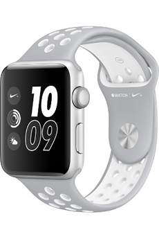 Apple watch WATCH NIKE+ 42MM ALUMINIUM COULEUR ARGENT BRACELET SPORT NIKE ARGENT/BLANC Apple