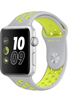 Apple watch WATCH NIKE+ 42MM ALUMINIUM COULEUR ARGENT BRACELET SPORT NIKE ARGENT/VOLT Apple