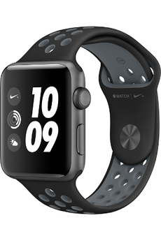 Apple watch WATCH NIKE+ 42MM ALUMINIUM COULEUR GRIS SIDERAL BRACELET SPORT NIKE NOIR/GRIS FROID Apple