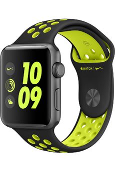 Apple watch WATCH NIKE+ 42MM ALUMINIUM COULEUR GRIS SIDERAL BRACELET NOIR/VOLT Apple
