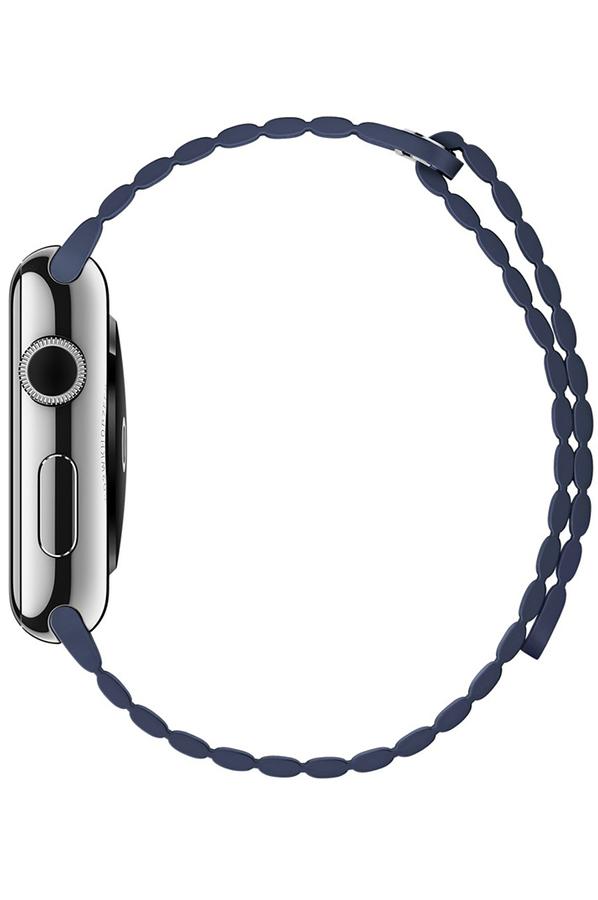 apple watch apple watch 42mm cadran acier bracelet cuir taille m 4165942 darty. Black Bedroom Furniture Sets. Home Design Ideas